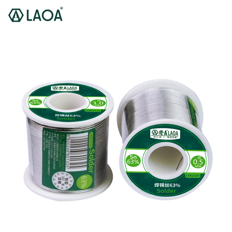 LAOA 1 PCS 63% Tin Lead Rosin Core Solder Wire 0.5-2.3mm Soldering Welding Wires 55g 400g Solder Bar 500g Free Shipping