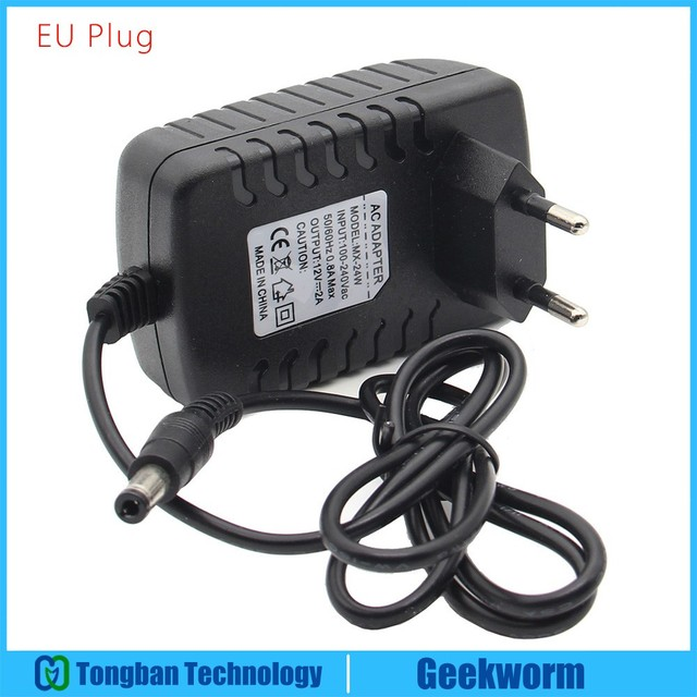 US $7 19 10% OFF DC 12V 2A 5 5x2 5 Power Adapter /Power Supply for  Raspberry Pi 10 inch Touch Screen / Display / Monitor (EU Plug or US Plug  )-in Demo