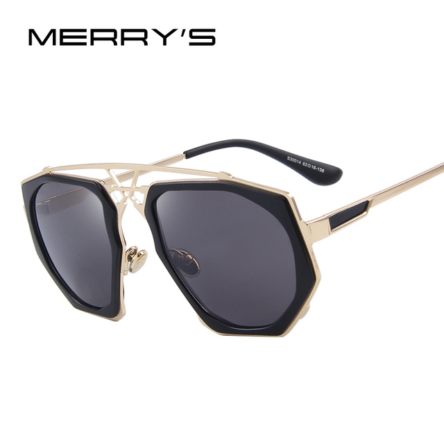 MERRY'S Women Sunglasses Newest Vintage Big Frame Goggle Summer Style Brand Design Sun Glasses Oculos De Sol S'8041