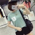 Kesebi 2017 Summer New Hot Fashion Women Korean Patchwork Pocket Simple T-shirts Female Loose Casual Students Tops JMR028#7024