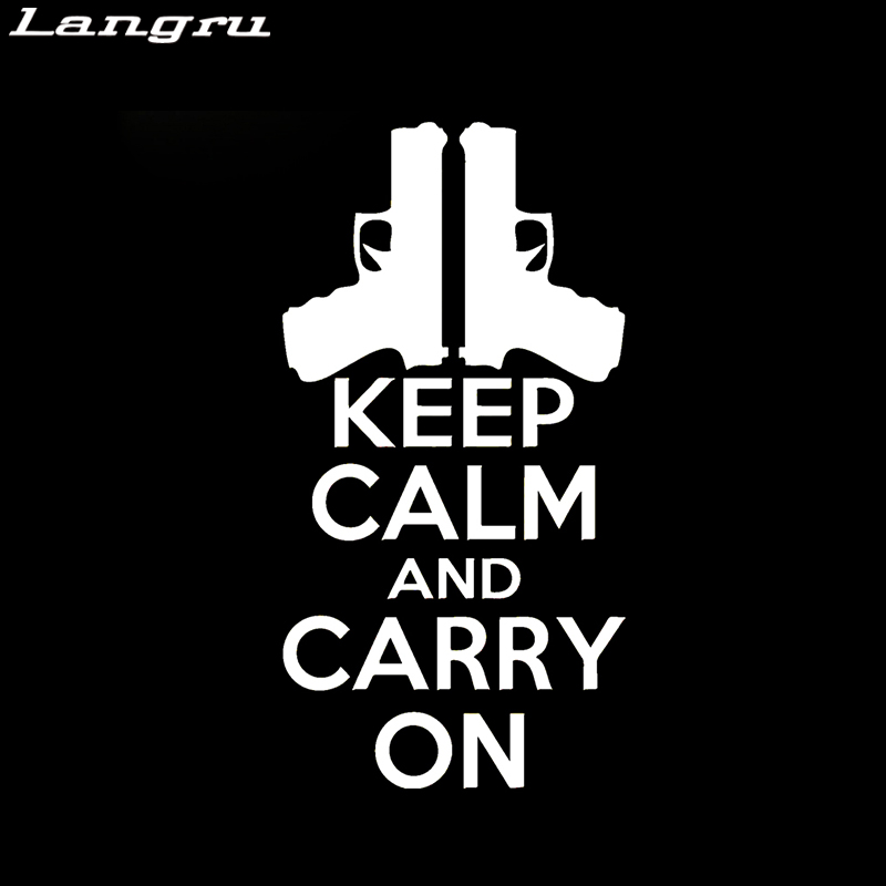 langru keep calm and carry on sticker vinyl decal car styling