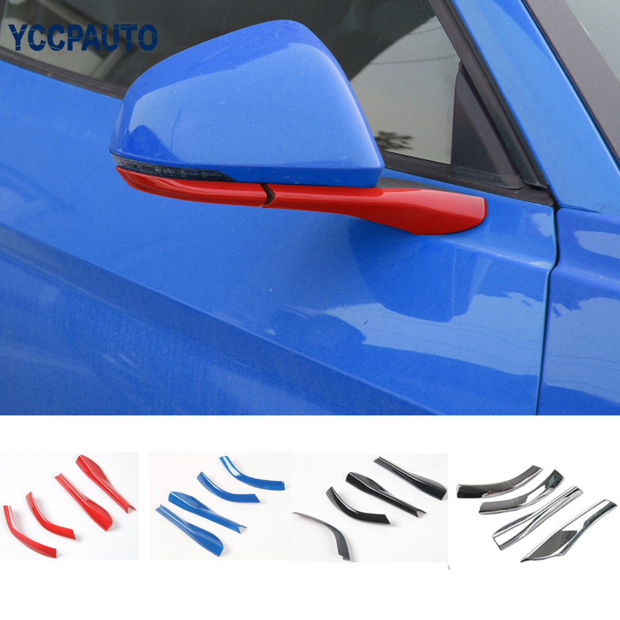 Review mirror decoration base car styling cover trims kits for ford mustang 2015 up free