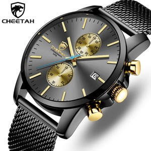 Image 1 - CHEETAH นาฬิกาผู้ชาย Top Luxury ยี่ห้อ Mens แฟชั่นนาฬิกาควอตซ์นาฬิกาสแตนเลสกันน้ำ Chronograph นาฬิกา Relogio Masculino