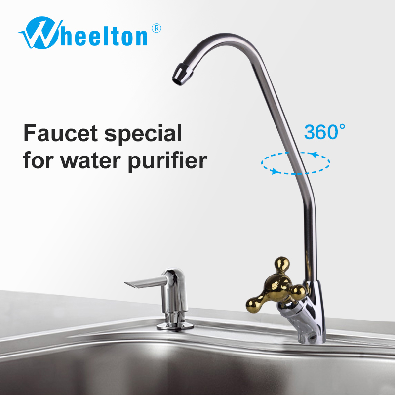 Wheelton Faucet Part of Water Filter Purifer RO(Reverse Osmosis) Drinking Water Ceramic Core Three-pronded,Model WHT-D10-2 lead free stainless steel ro faucet for water filter reverse osmosis drinking water 1 4