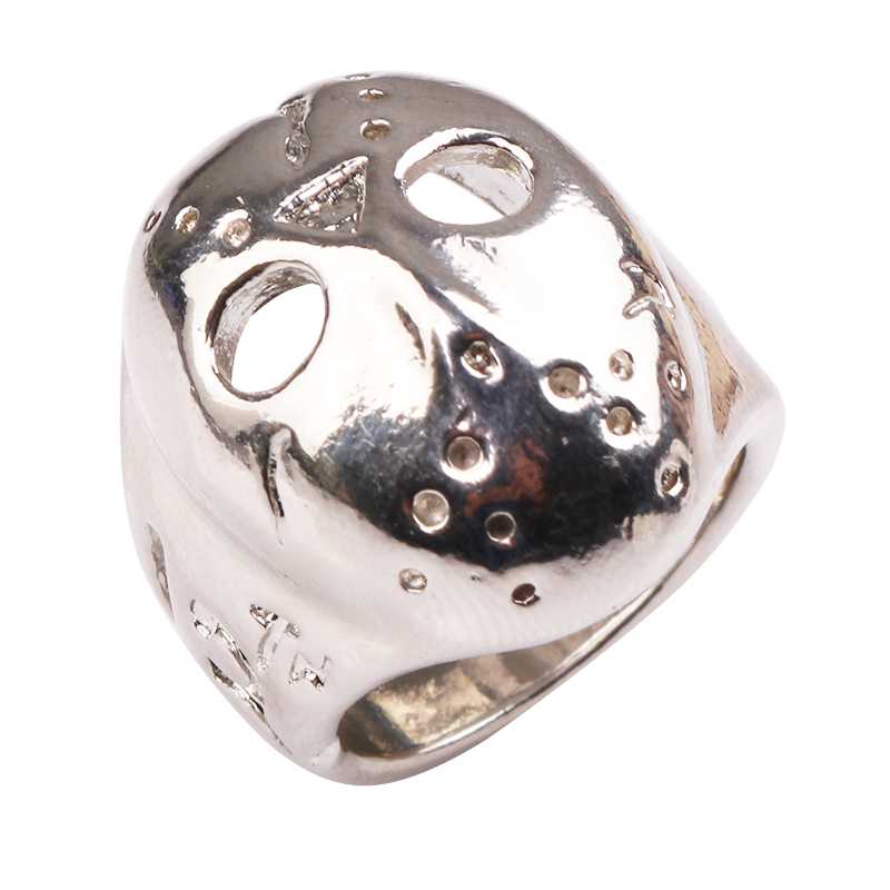 Black Friday Hockey Jason Mask SKull Ring for women and men personalized jewelry