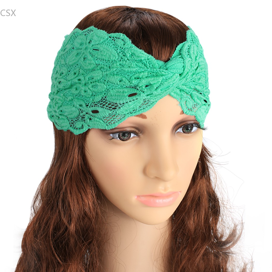e8ca880c4d4 Hot Sale Women Lace Stretchy Headband Turban Head wrap Twist Hairbands  Turbante Hair Accessories Drop Shipping Free Shipping 41-in Women s Hair  Accessories ...