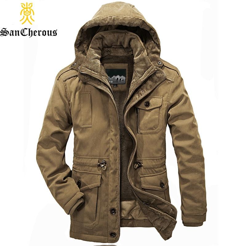 US $83.59 45% OFF|2019 New Arrival Top Quality Men Warm Parkas Heavy Wool Men Winter Jacket Men 2 in 1 Coat Size M 4XL in Parkas from Men's Clothing