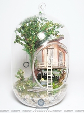 Pakitoy DIY Glass Ball Doll House Wooden Mini Handmade dollhouse Miniature Toy Bristday Christmas Gift –summul