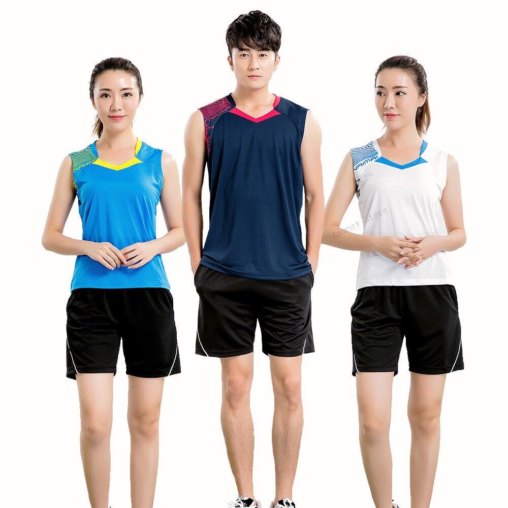 Badminton sem Mangas Shirt do Terno dos Homens Camisa de Badminton Mangas de Corrida Adsmoney Mulheres Poliéster Carta Camisa Desgaste Kit –