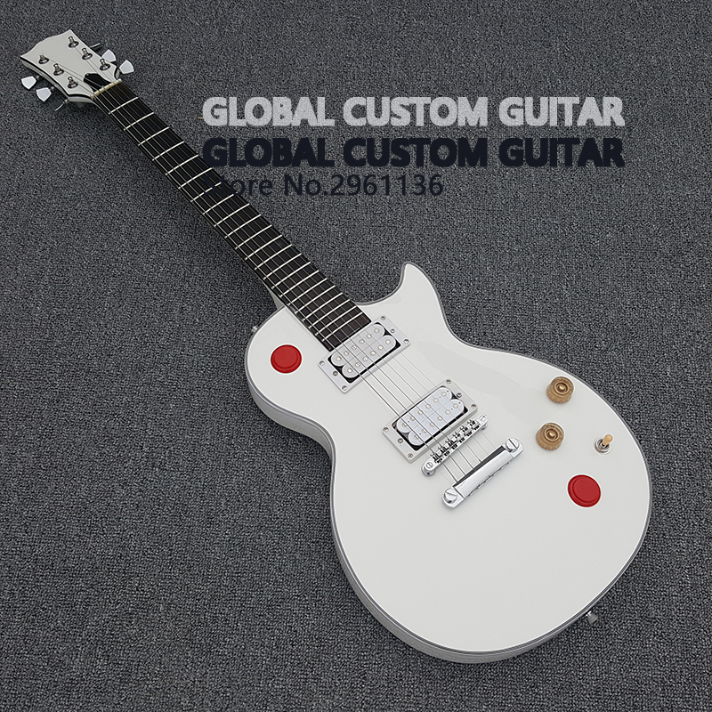 2017 New red switch white body LP guitar, The guitar bag free of charge new promotional gift flash free shipping