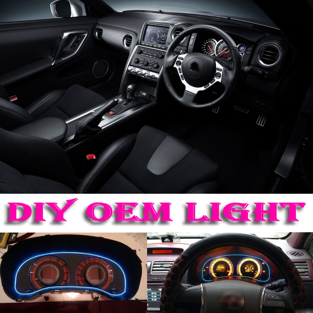 Car Atmosphere Light Flexible Neon Light EL Wire Interior Light Decorative  Decals Inside Tuning For Nissan Skyline Crossover-in Signal Lamp from  Automobiles ...