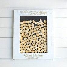 Custom Drop Top Guestbook Black Frame Personalised Unique Wedding guest book wedding gift