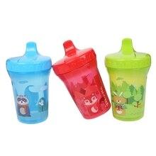 300 мл Детский ПП, фляга для воды с утконосом в форме рта, 3 цвета, рисунок мультяшных животных, высокое качество, Детская тренировочная чашка для кормления