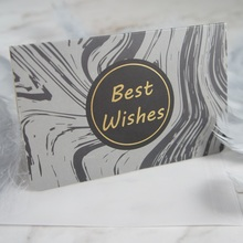 multi-use 25pcs gold black gray marble design best wishes Card with envelope Scrapbooking party invitation DIY Decor gift card original cheap 86203 premium black monochrome ribbon use with dtc550 card printers k 3 000 prints