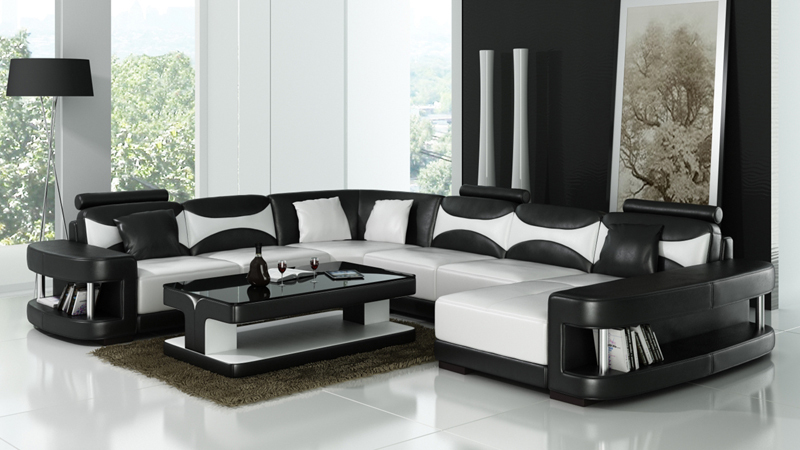 3 piece black leather living room set best colors to paint a aliexpress.com : buy modern sofa furniture ...