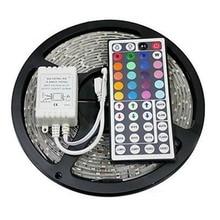 LED Stip ערכת RGB LED רצועת DC12V 5 M עמיד למים גמיש חבל אור 5050 60LED/m, 44Key מרחוק בקר