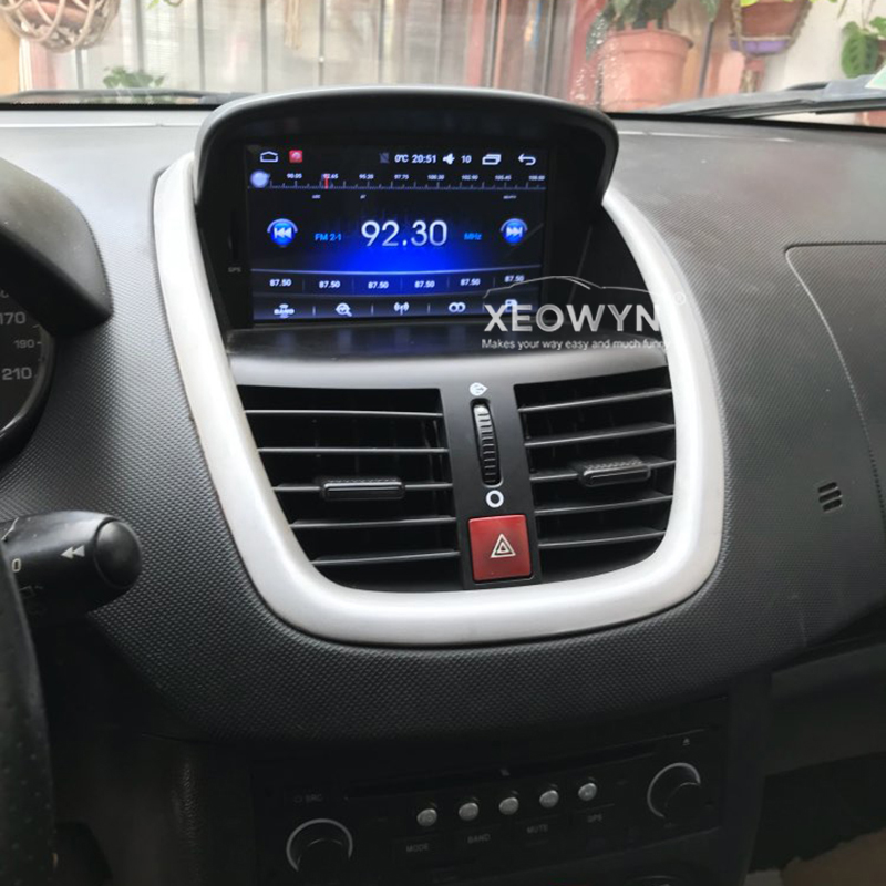 7 android 6 0 car dvd stereo for peugeot 207 2007 2014. Black Bedroom Furniture Sets. Home Design Ideas