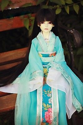 699# Blue Ancient costume/Dress/ Outfit For 1/4 MSD AOD DOD DZ BJD Dollfie 699 blue ancient costume dress outfit for 1 4 msd aod dod dz bjd dollfie