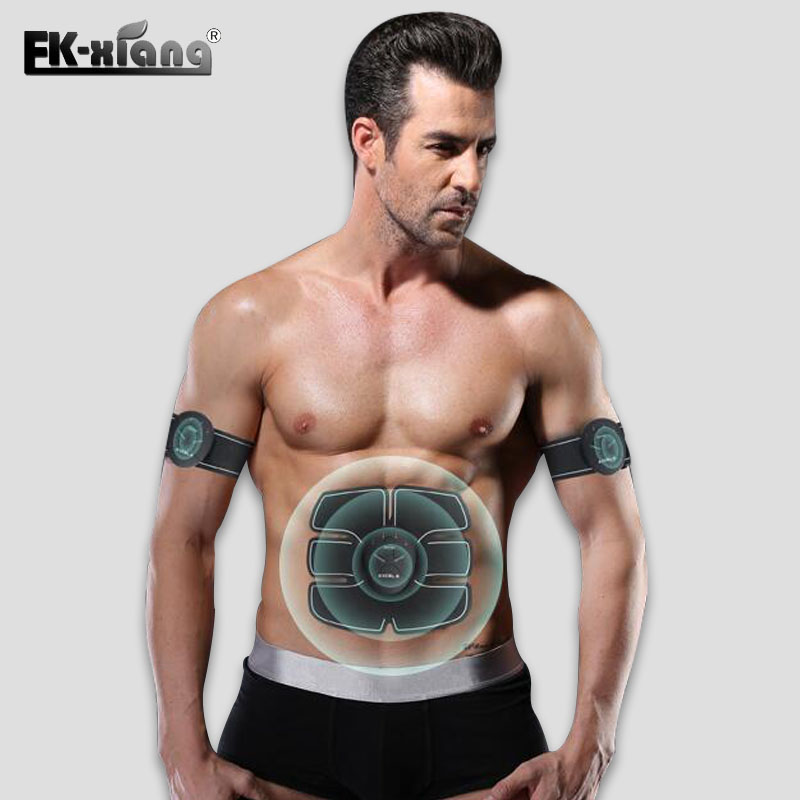 Electrical Abdominal EMS Trainer Muscle Stimulator Exerciser Training Device Body Arm Massager Slimming Weight Loss Massager smart ems electric pulse treatment massager abdominal muscle stimulator exerciser device loss weight slimming training massager