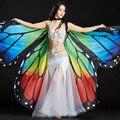 Танец живота Костюм 360 Бабочка Isis Крылья Градиент Красочные Этап Производительность Реквизит Бабочки Крылья для Танца Живота Плащ