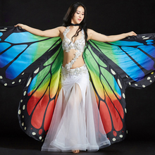 Belly Dance Costume 360 Butterfly Isis Wings Gradient Colourful Stage Performance Props Butterfly Wings for Belly Dance Cloak