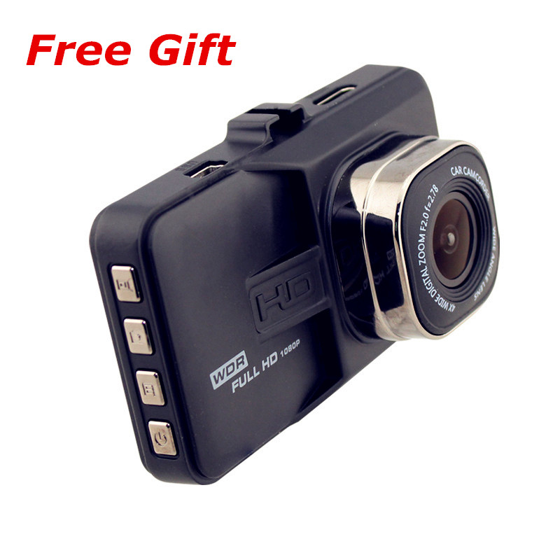 Free Gift Ultra Wide Angle Lens Car DVR Camera 1080P LCD Video Recorder Dash Camera High Speed Transmission TF Card Memory
