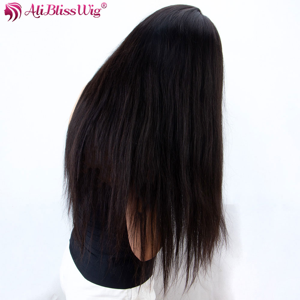 360 Lace Frontal Wig Straight 130% 150% 250 Density Lace Front Human Hair Wigs For Black Women Brazilian Remy Hair Aliblisswig (4)