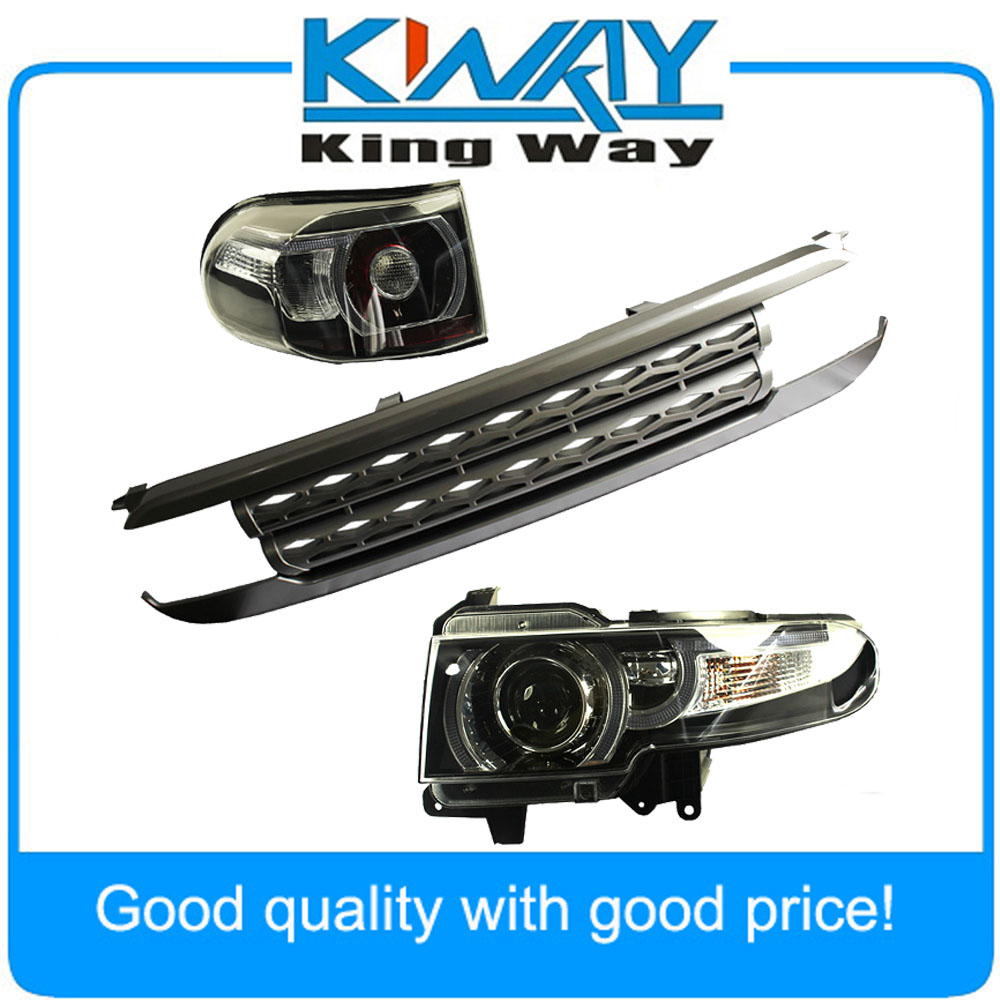 LED Halo Headlight with Grille & tail light For Toyota FJ Cruiser 2007 2015