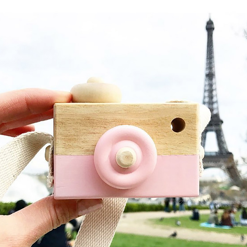 Children Wooden Camera Fashion Nordic Photo Prop Decoration Hanging Toys Kids Furnishing Articles Home Photography Prop Decor