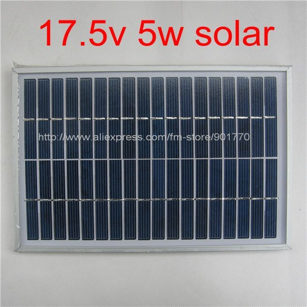 17.5V 290MA 5W solar panel module solar power panels 5watt charge 12v battery polycrystalline solar cells
