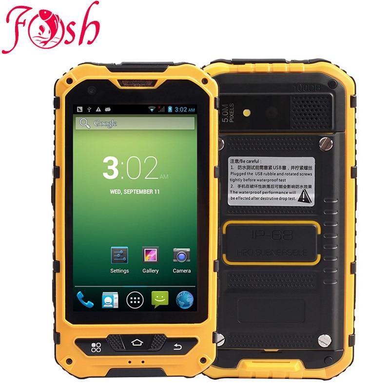Original A8 IP68 Waterproof Shockproof Rugged Phone MTK6582 Quad Core 3000ma 2G RAM 16G 3G GPS 8.0MP Mobile NFC Dual SIM A9 Zug3
