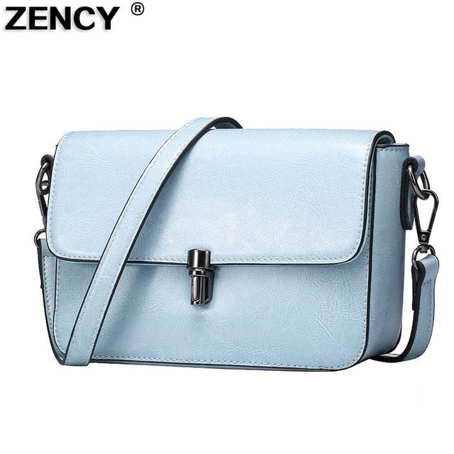 a47abfbd1879c2 ZENCY Bags Handbags Luxury Famous Brands Small Flap Women Summer Bag  Handbag Genuine Leather Shoulder Messenger Shopping Bags
