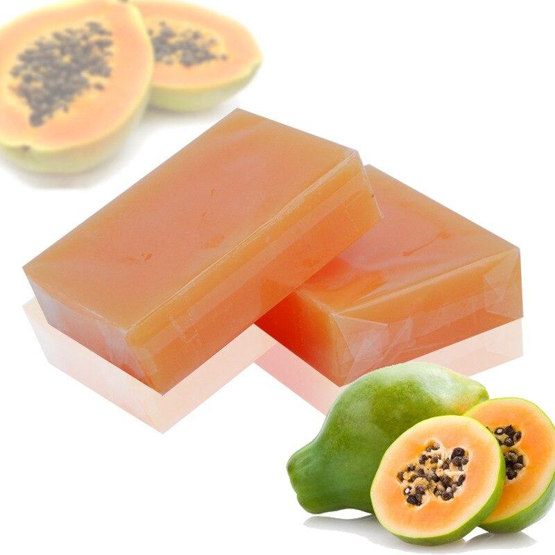 100g Natural Organic Herbal Green Papaya Whitening Handmade Soap Lightening Skin Remove Acne Moisturizing Cleansing Bath Soap 2