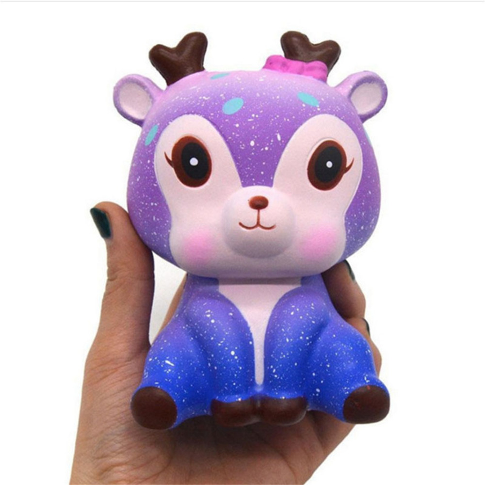 Stress Novelty Cute Galaxy Deer Scented Squishy Squeeze Strap Funny Gadgets Anti Stress Novelty Anti Stress Toy kids Funny Baby