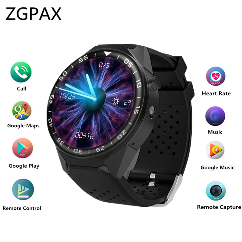 ZGPAX S99C PRO Bluetooth Smart Watch with Camera 2GB RAM 16GB ROM Support SIM Card 3G WIFI GPS Smartwatch for Android IOS Phone 696 bluetooth android smart watch gt08 plus support camera nano 3g sim card wifi gps google map google play store wristwatch