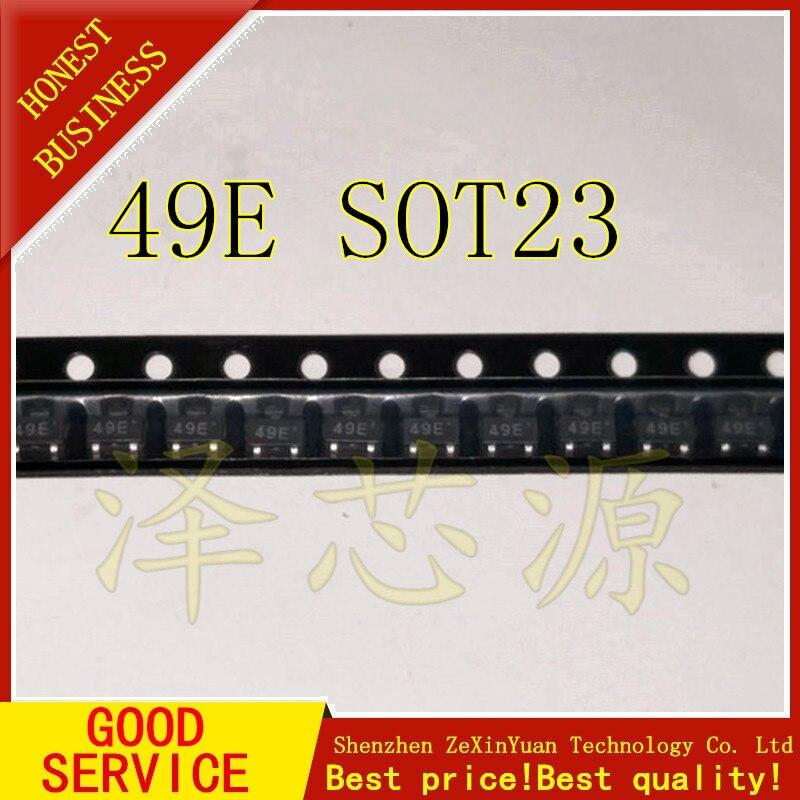 10 pz/lotto SMD 49E SOT23 3503 Sensore di SS49E lineare AH49E interruttore10 pz/lotto SMD 49E SOT23 3503 Sensore di SS49E lineare AH49E interruttore