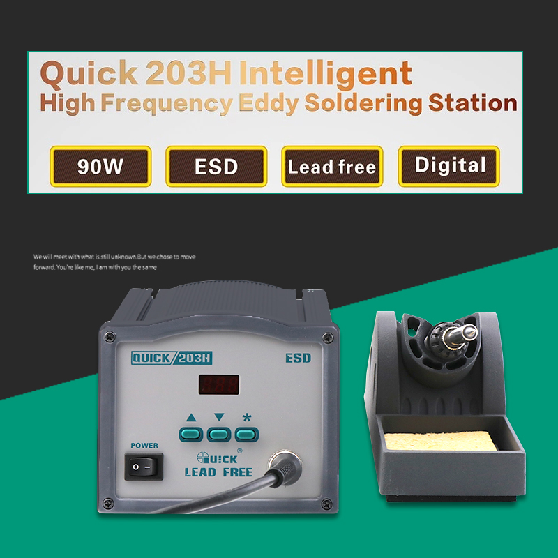 Quick 203H 90w Digital Intelligent High Frequency Eddy Hot Air Soldering Station цена