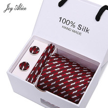 7.5cm Mens Ties New Man Fashion Printed Neckties Corbatas Gravata Jacquard Tie&Handkerchief&Cufflinks Set Tie For Men Gift Box