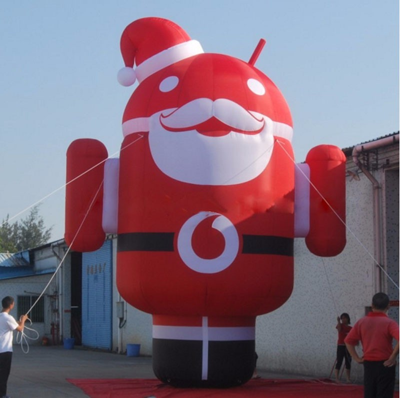 15 Feet Tall Giant Advertising Model Inflatable Android Robot For Mobile Cell Phones Promotions