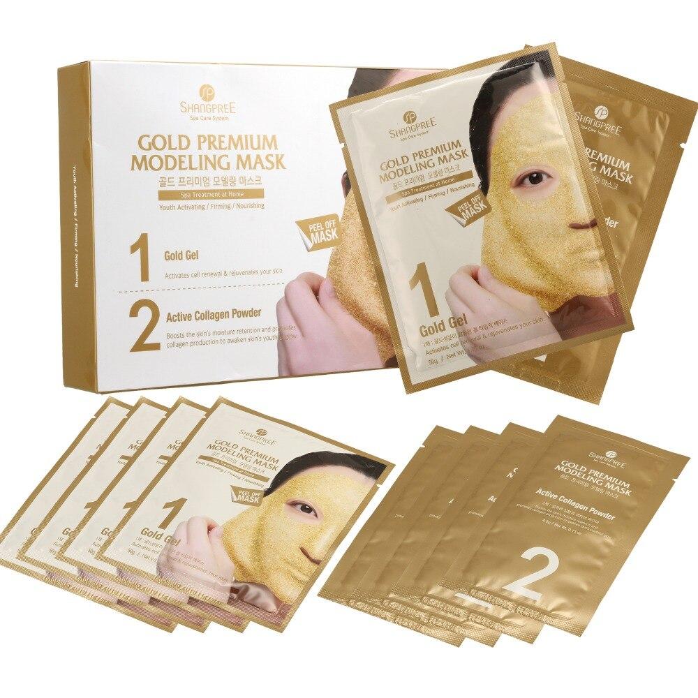 5 sztuk SHANGPREE złoty najwyższej jakości modelowania maska odkleić żel maska do twarzy z kolagenem w Zabiegi i maski od Uroda i zdrowie na  Grupa 1