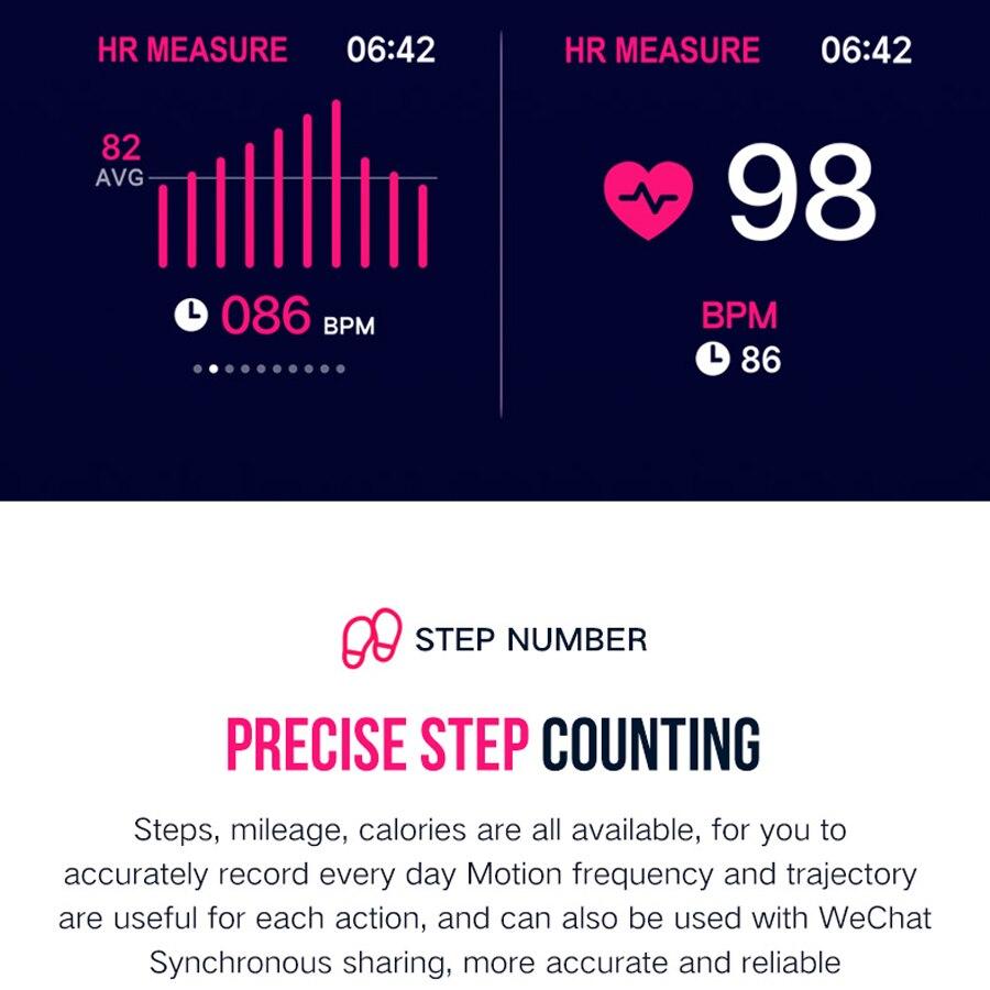 Femmes montres intelligentes étanche PU bande numérique Sport montre Bracelet femmes moniteur de fréquence cardiaque pression artérielle Bluetooth Smartwatch - 6