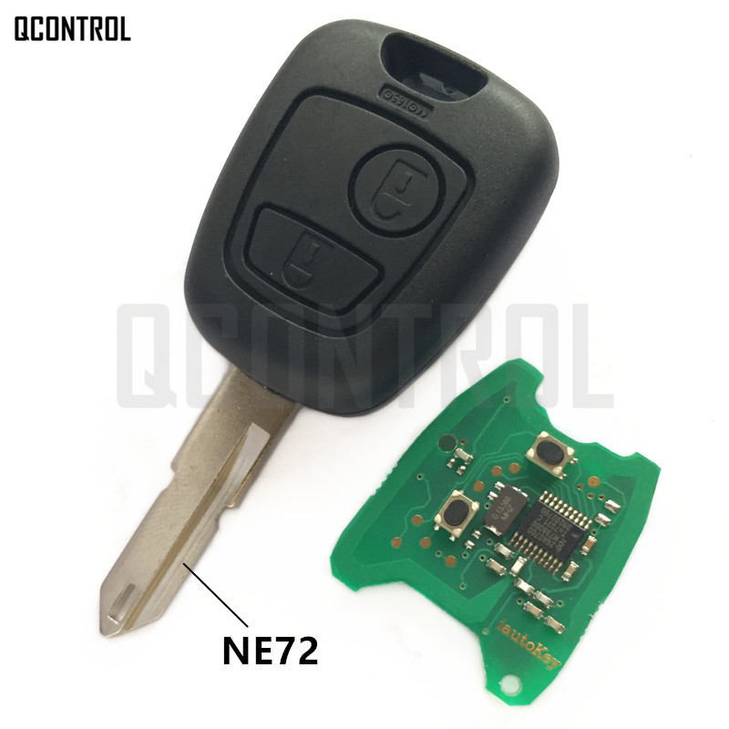 QCONTROL Car Remote Key DIY For PEUGEOT 206 207 Complete Vehicle Key