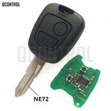 QCONTROL Car Remote Key DIY for PEUGEOT 206 207 Complete Vehicle Key