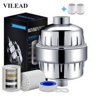 VILEAD 10 15 Layers ABS Water Filter Set for Household Shower Water Purifier Shower Purifier Shower Filter Bathroom Accessories