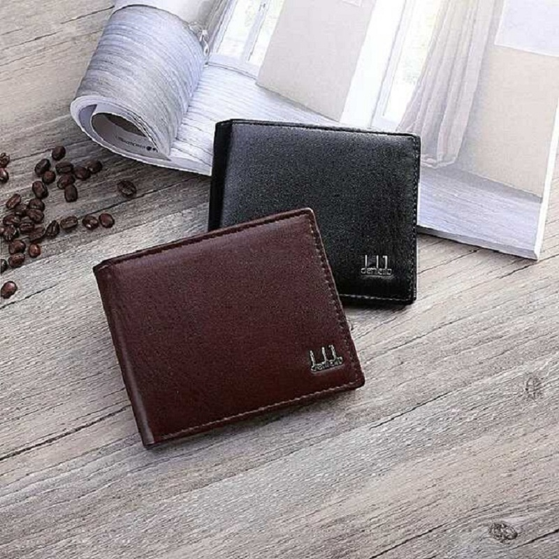 2019 Fashion Men Wallets Small Wallet Card Holder Male Synthetic Leather Money Pockets Credit/ID Cards Holder Purse Zipper