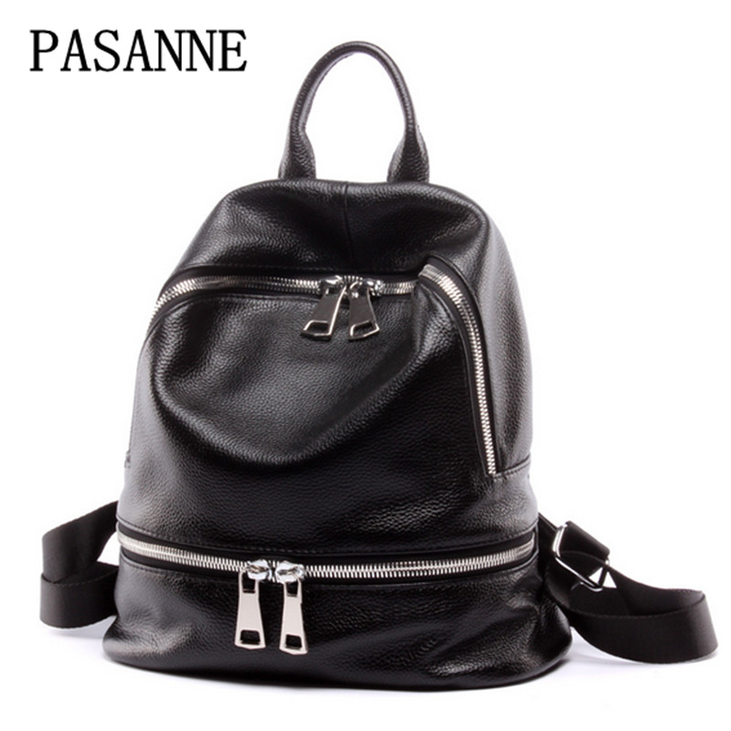 Women Backpack New Schoolbag 2017 Fashion Casual Genuine Leather Woman Bag Cow Leather Travelling Bag Schoolbags Shoudler Bags 2017 new arrival leather backpack casual bags
