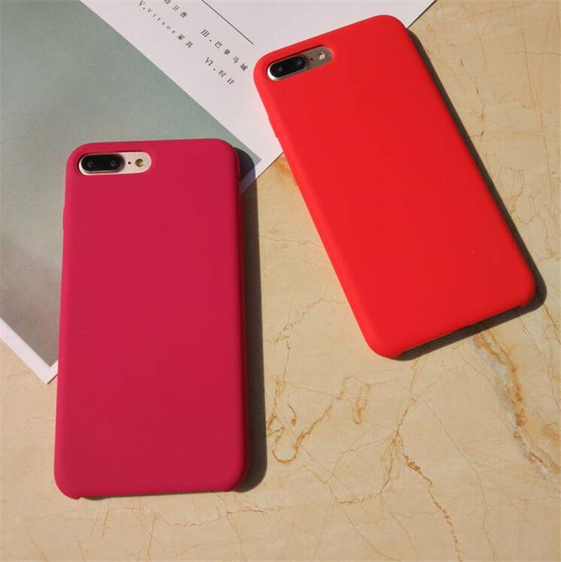 For Iphone Case Logo Official Silicone Case Funda Iphone 7 8 Plus