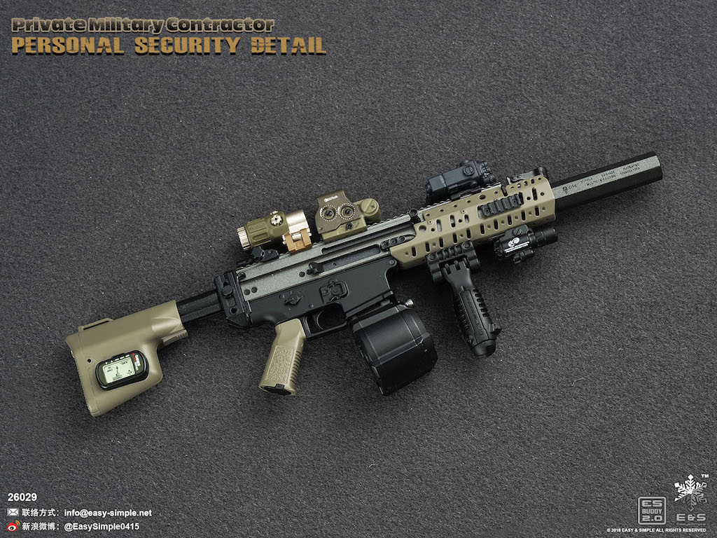 """EASY/&SIMPLE ES 26029 1//6 US Army PMC rifle Gun MK16 model For 12/"""" Male Figure"""