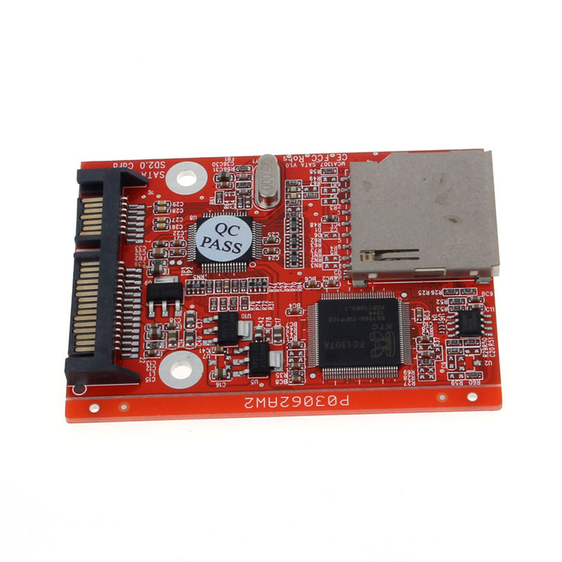 все цены на New SD SDHC MMC Card To SATA 7+15pin HDD Hard Disk Drive Converter Adapter Board Hot Dec11