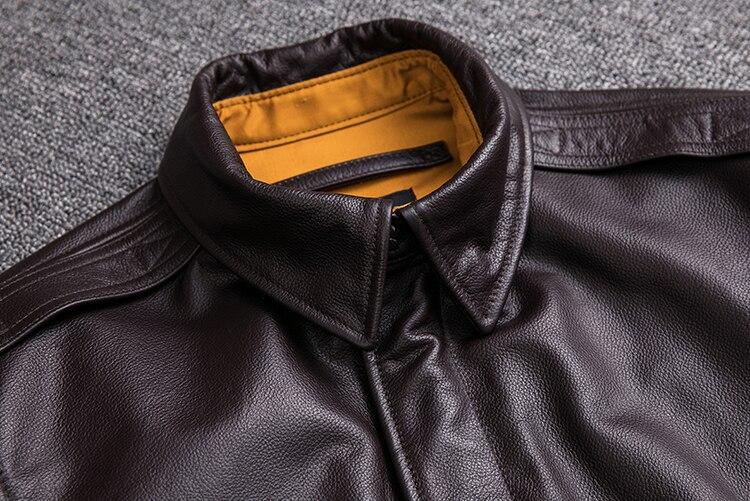 HTB1BR1geCzqK1RjSZFLq6An2XXay MAPLESTEED Men Leather Jacket Military Pilot Jackets Air Force Flight A2 Jacket Black Brown 100% Calf Skin Coat Autumn 4XL M154